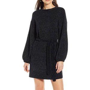 Something Navy Shimmer Sweater Dress NEW